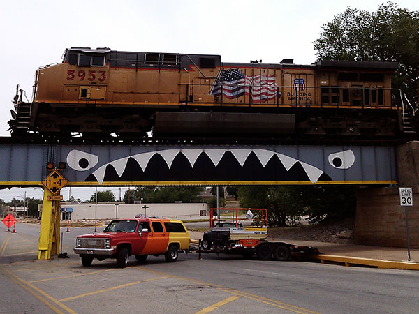 Bridge Shark West with Train